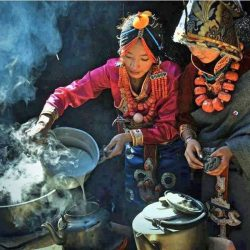 Buttertea by tibetan women